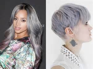 grey purple hair color trends 2015