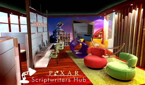 pixar scriptwriters hub modern office designs pinterest