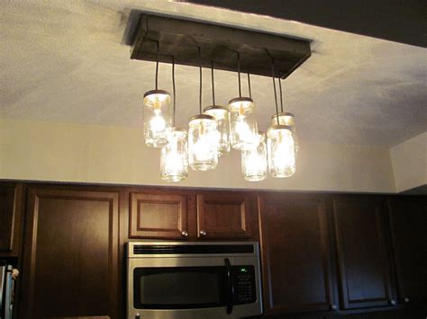 Diy Kitchen Light Fixtures Find The Uniqueness And Breathtaking Home Lighting By Installing Jar Lighting Fixtures