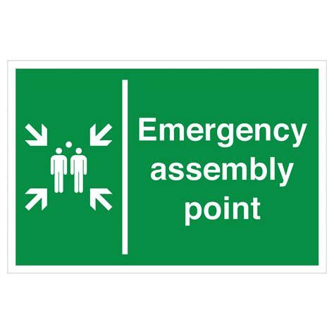 Safety Sign 3m Assembly Point Titik Kumpul emergency assembly point safety signs assembly point sign from bigdug uk