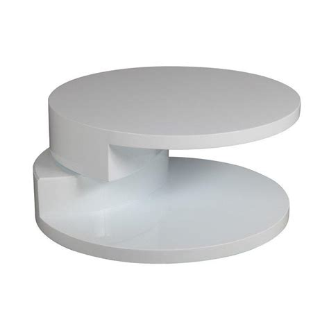 table ronde design blanche tables basses tables et chaises table basse ronde design