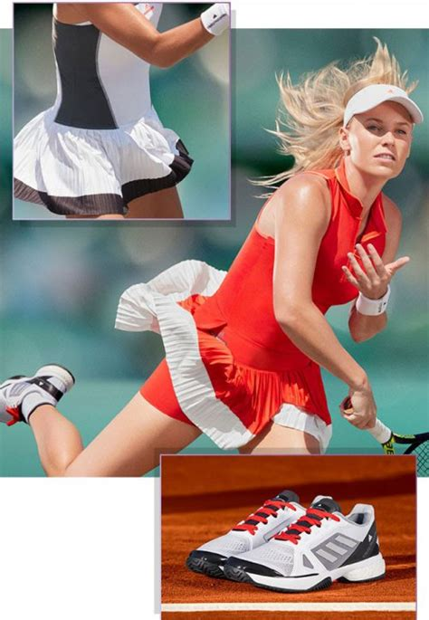 caroline wozniacki s adidas stella polo look for the 2017 open s