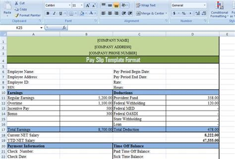 format excel slip setoran mandiri pay slip template format in excel and word exceldox