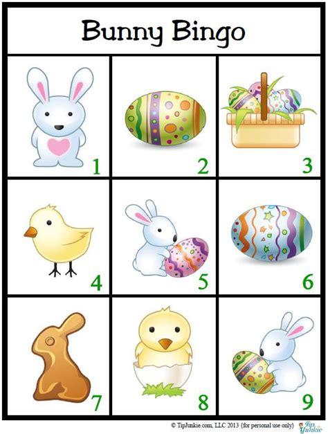 Easter Bingo Game For Kids Free Printable Tip Junkie Tip Junkie