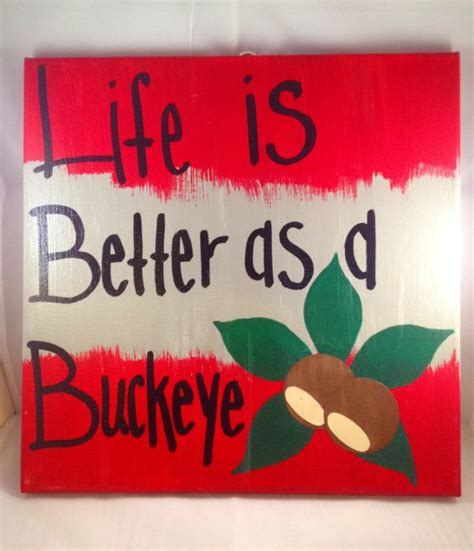canvas osu life is better as a buckey 12x12 canvas artwork artworks