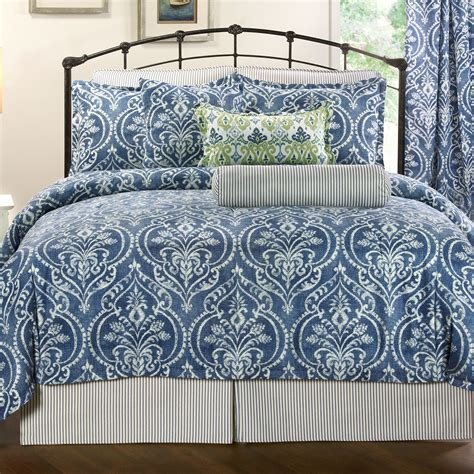 medallion bedding allegra blue medallion comforter bedding