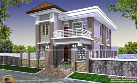 outer house design home design simple but beautiful flat roof house keralahousedesigns adorable