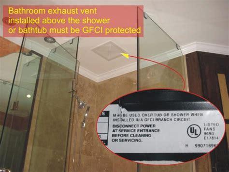 Bathroom Exhaust Fan   GFCI Bathroom Vent Protection