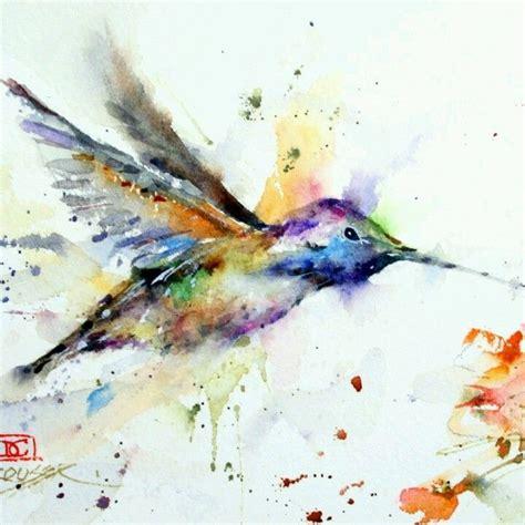 watercolor bird ink addiction pinterest