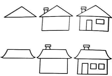how to draw a house step by step buildings landmarks places learn to draw flowers and plants and free coloring pages