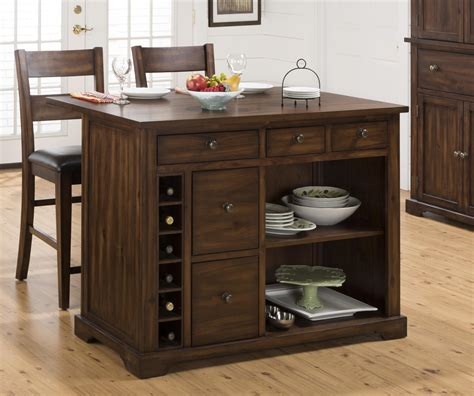Kitchen Island With Leaf by Jofran Expandable Drop Leaf Kitchen Island With Wine