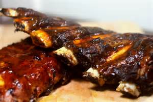 hickory grilled beef and pork ribs meals for my mother