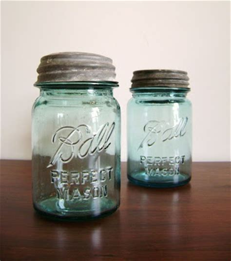 Blue Jar Ls by High Market Repurposing Vintage Jars