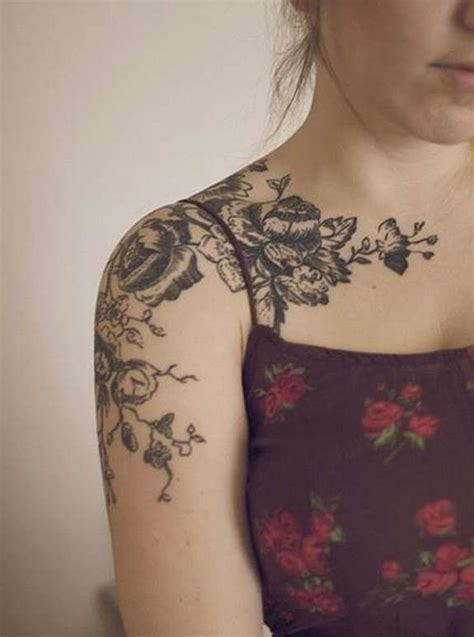 26 sublime flower shoulder tattoos and designs