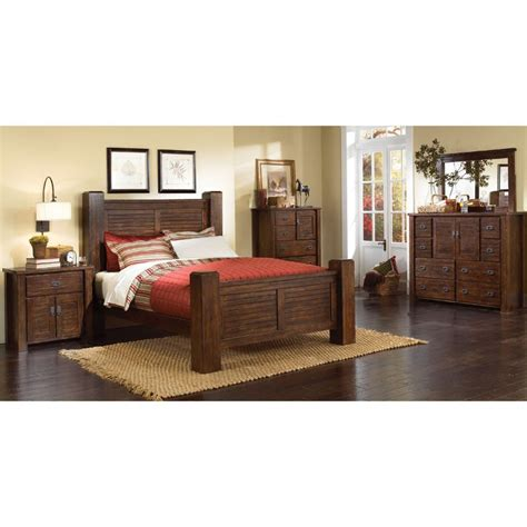 king bedroom furniture set trestlewood 6 cal king bedroom set