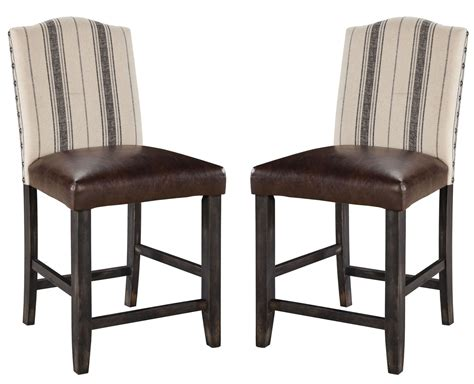 Two Tone Counter Stools by Moriann Two Tone Upholstered Counter Stool Set Of 2 From