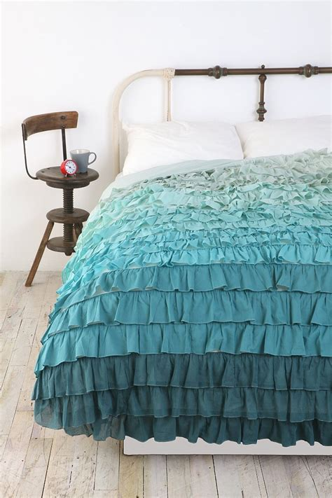 waterfall bedding tonal waterfall ruffle duvet cover urban outfitters