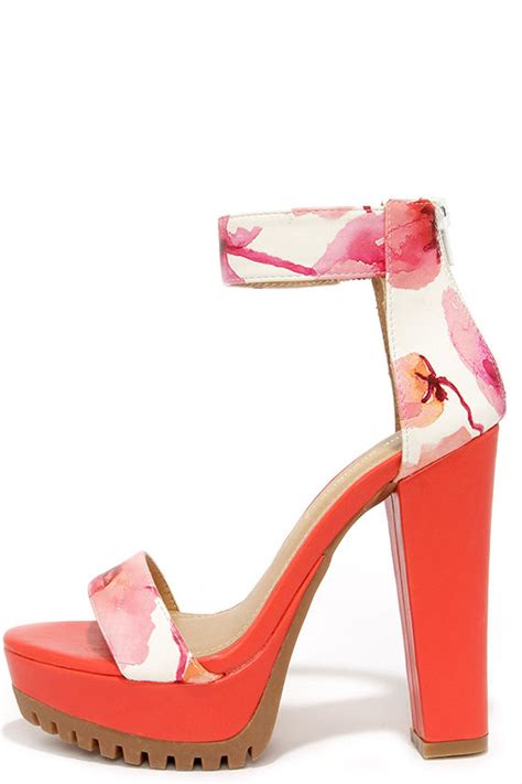 pretty flower shoes pretty heels floral heels platform sandals 38 00