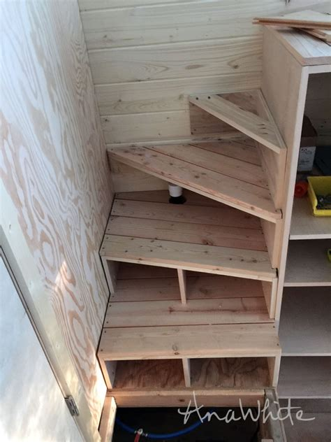 tiny house stairs ana white tiny house stairs spiral storage style diy projects