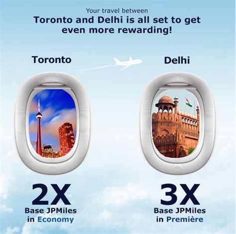 rewards canada jet airways jetprivilege earn up to jpmiles between toronto and delhi