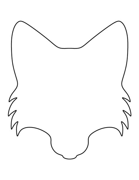 template of a fox fox pattern use the printable outline for crafts