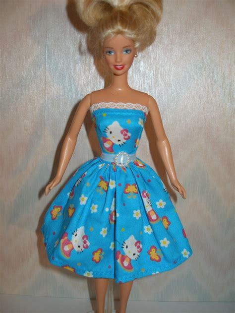 Handmade Doll Dresses - handmade doll clothes blue hello dress