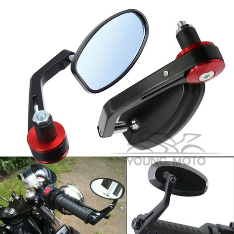 Black 7 8 Motorcycle Mirrors Handle Bar End For Honda Suzuki Yamaha C aliexpress buy 7 8 quot 22mm universal black motorcycle handlebar bar end mirror side rear