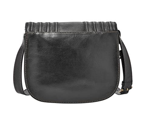 Promolspeciall Fossil Emi Tassel Saddle Bag Black Tas Branded Ori fossil emi tassel saddle bag black ebay