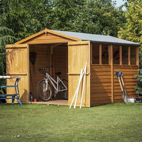 shire overlap garden shed   double doors  garden