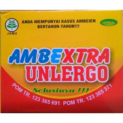 Ambextra Unlergo Herbal Wasir ambextra unlergo herbal ambeien dan wasir elevenia
