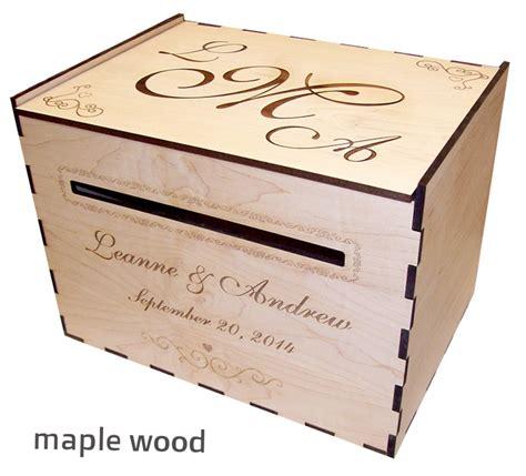 wedding box wood wood wedding card box personalized elkwood arts
