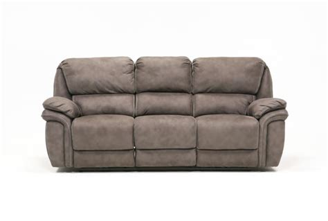 norfolk power reclining loveseat wconsole norfolk grey power reclining sofa living spaces