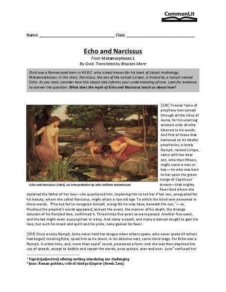 Echo Worksheet