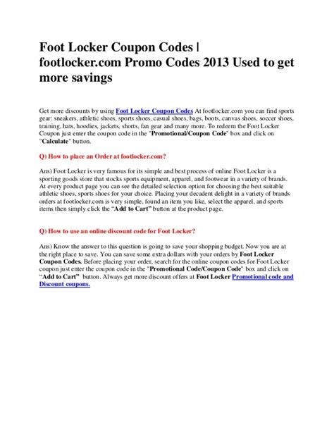 Free 500 Foot Locker Gift Card - promo codes coupons specs price release date redesign
