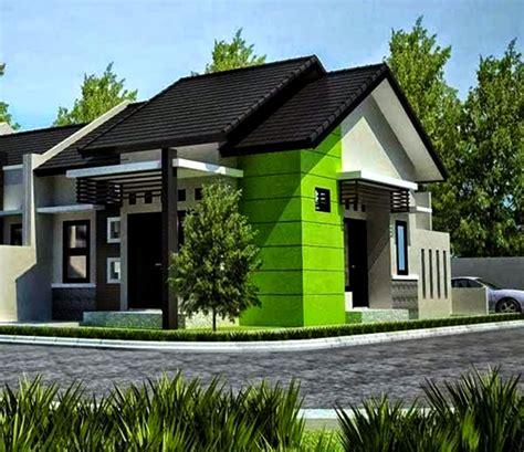 kombinasi membuat warna coklat rumah minimalis dengan kombinasi warna cat hijau dan putih