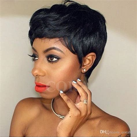 short hair peices and extentions for woman over 50 short wigs for african american women rihanna short pixie