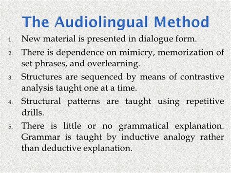 the pattern language and its enemies group 2 a methodical history of language teaching