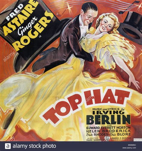 ginger rogers fred astaire movie posters top hat poster for 1935 rko musical with ginger rogers and