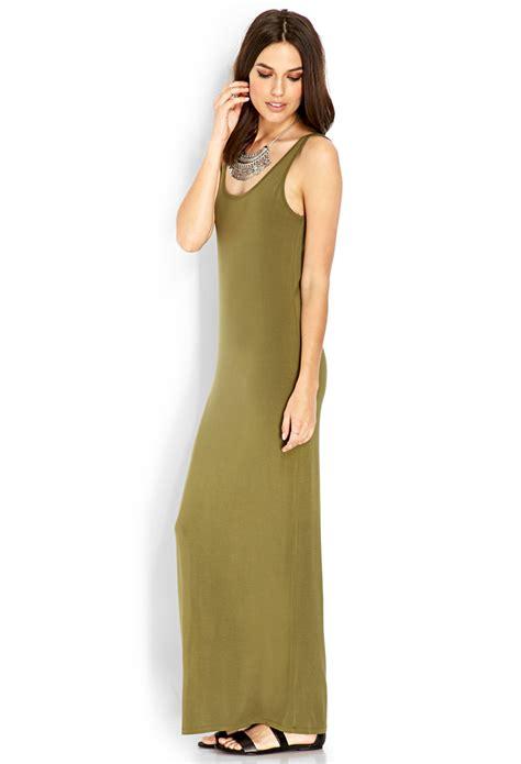Saidah Maxi Umbrella Jersey Alijaya 1 lyst forever 21 jersey knit maxi dress in green