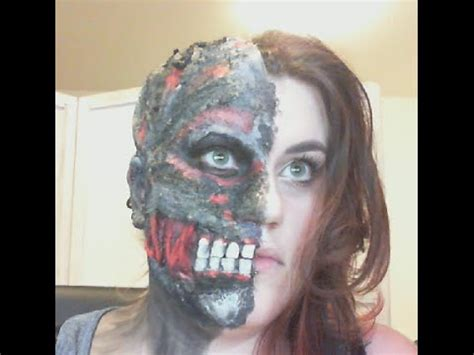 makeup tutorial two face two face makeup sfx tutorial youtube