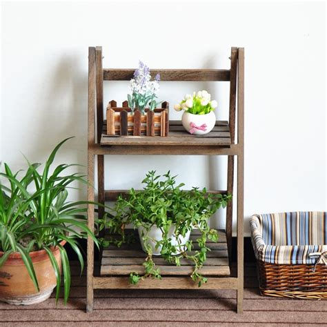 etagere ydf garden wood flower rack flower display shelf plant stand