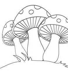 Mushrooms Coloring Pages free coloring pages of drawing