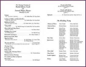 Wedding Programs Example Examples Of Wedding Programs Cvsampleform Com