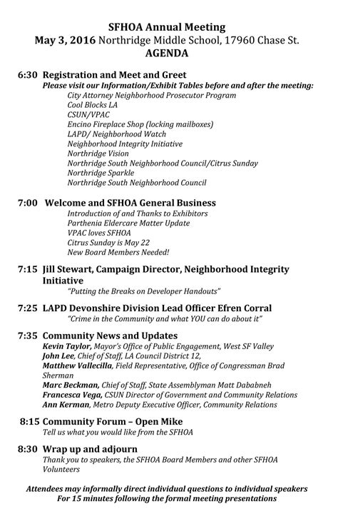 Sherwood Forest Hoa Annual Meeting May 3 2016 Sherwood Forest Homeowners Association Hoa Annual Meeting Minutes Template