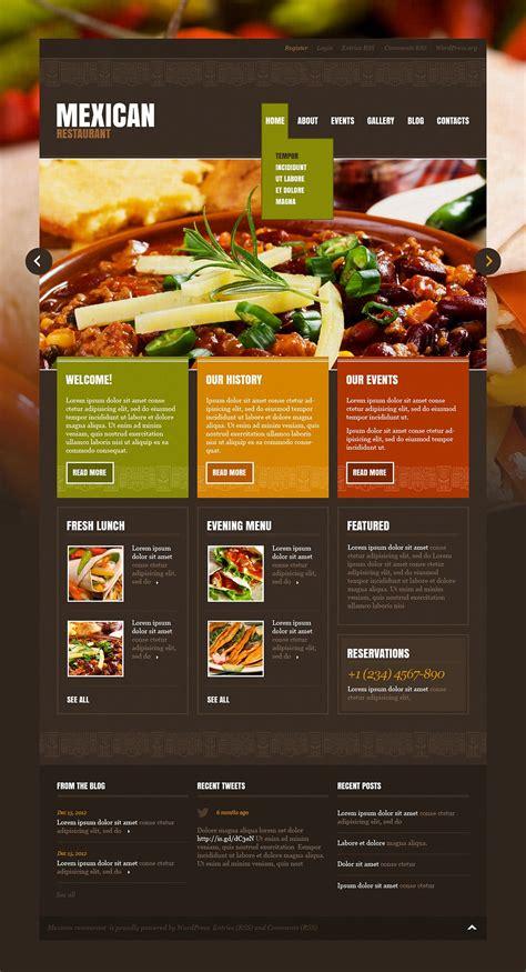 restaurant themes html mexican restaurant wordpress theme 43196