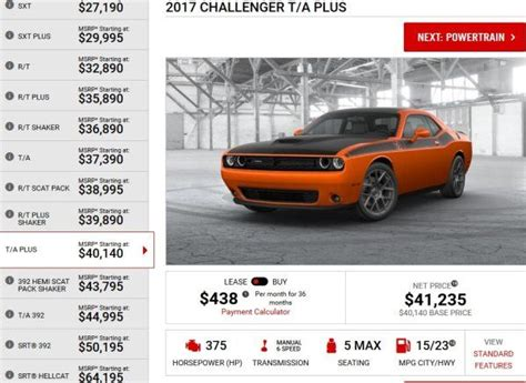 2017 Challenger Models by Detailing The 2017 Dodge Challenger Model Lineup Torque News