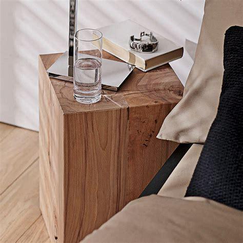 nachttisch 30x30 noblewood massivholzblock buche 30 x 30 x 45 cm bauhaus