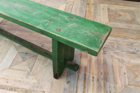 green bench definition antiques atlas green farmhouse bench
