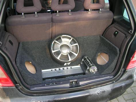 klassew kofferraumausbau mit subwoofer biete mercedes