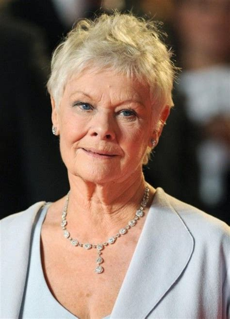 pixie cut for middle aged curly hair bing short pixie cut for mature women over 70 judi dench